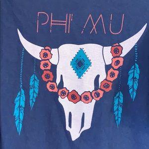 Comfort Colors Tops - Phi Mu recruitment shirt